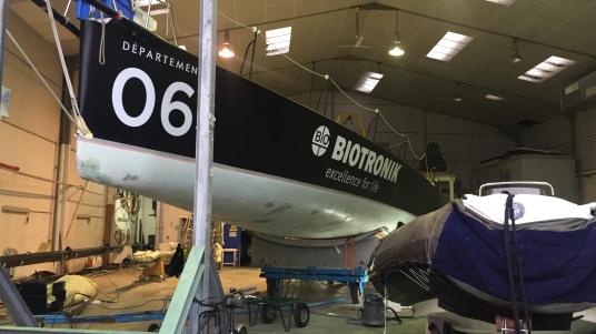 Préparation / chantier 2019 IMOCA #4myplanet - Alexia Barrier